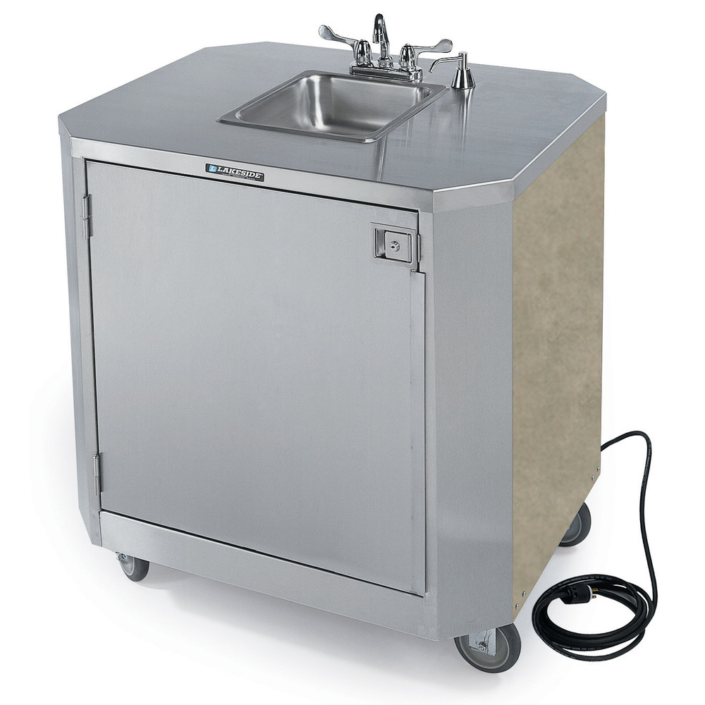 Portable Sink With Faucet And Hot Water Heater With Pump 91