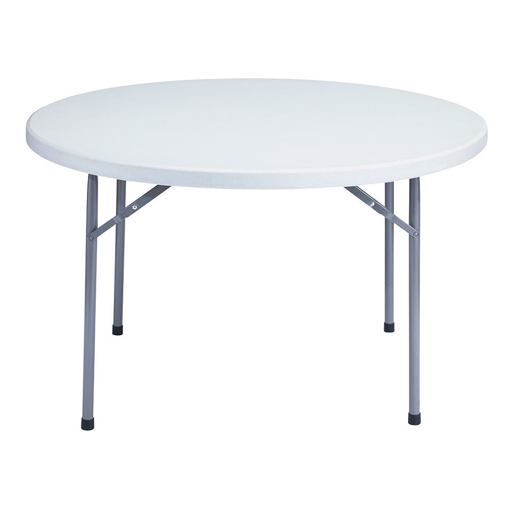 National Public Seating Bt48r 48 Round Gray Plastic