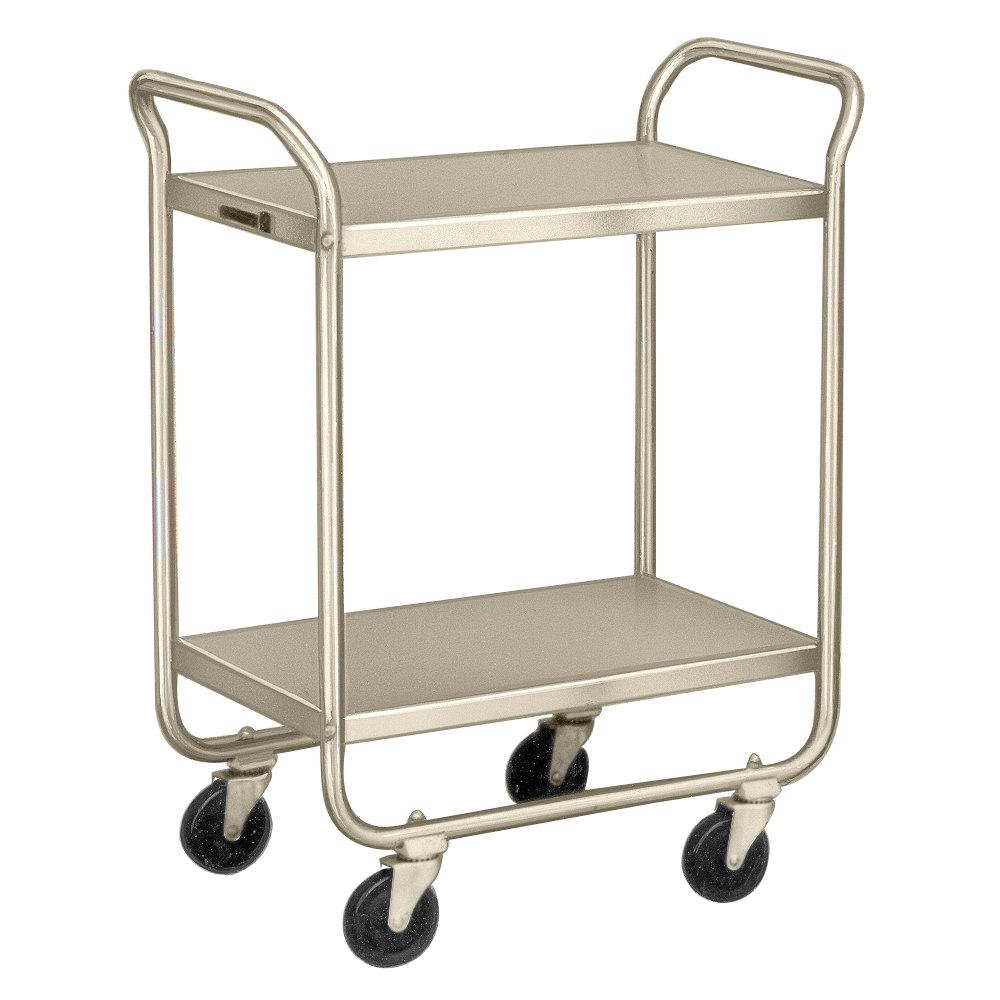 Metal Utility Cart: Lakeside 210 Stainless Steel Two Shelf Tubular Utility