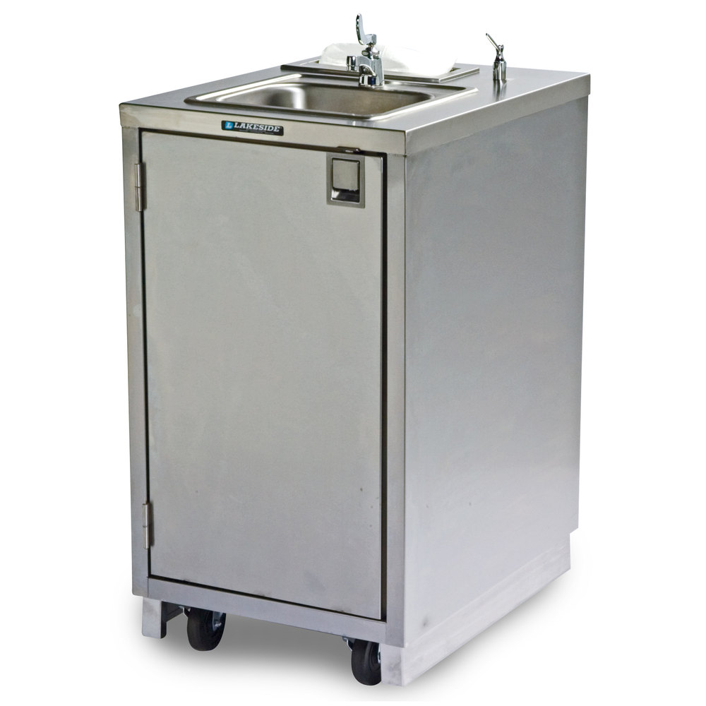 Portable Sink With Faucet And Hot Water Heater With Pump 85