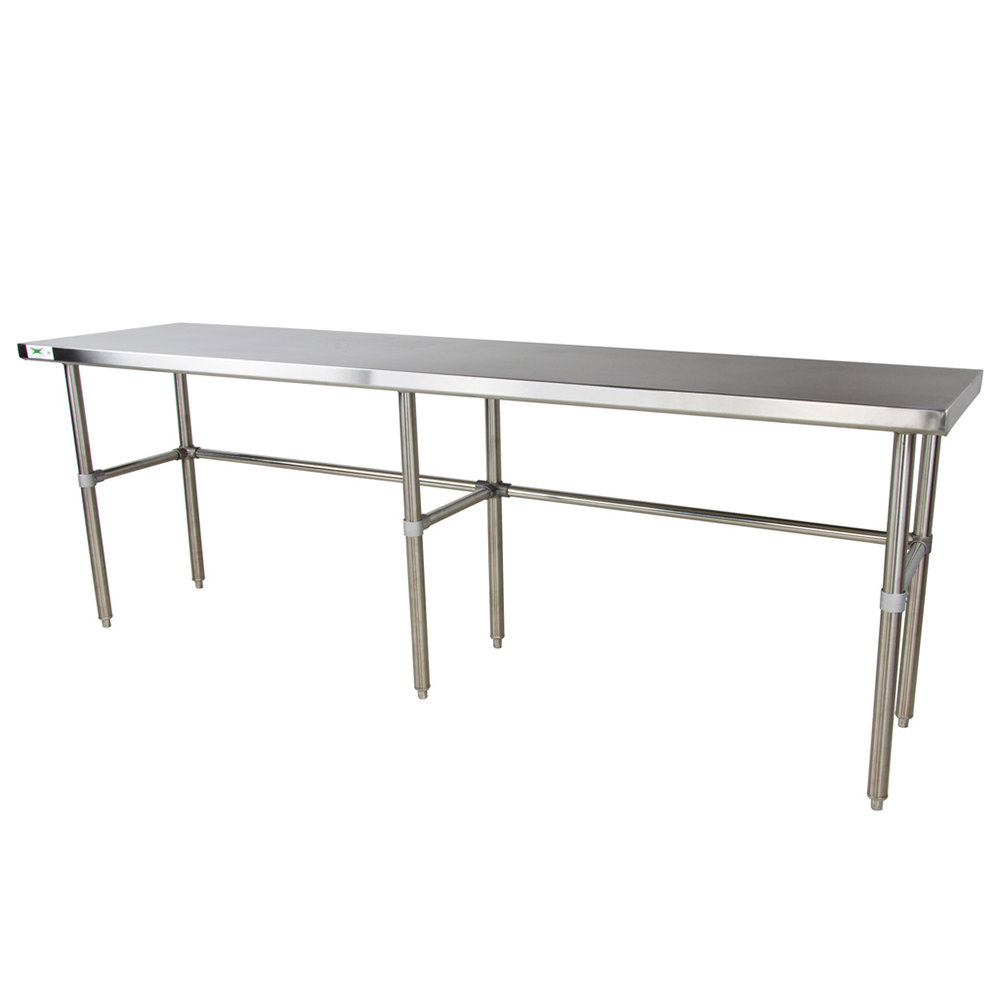 Regency 16 Gauge 30 inch x 108 inch Stainless Steel Commercial Open Base Work Table