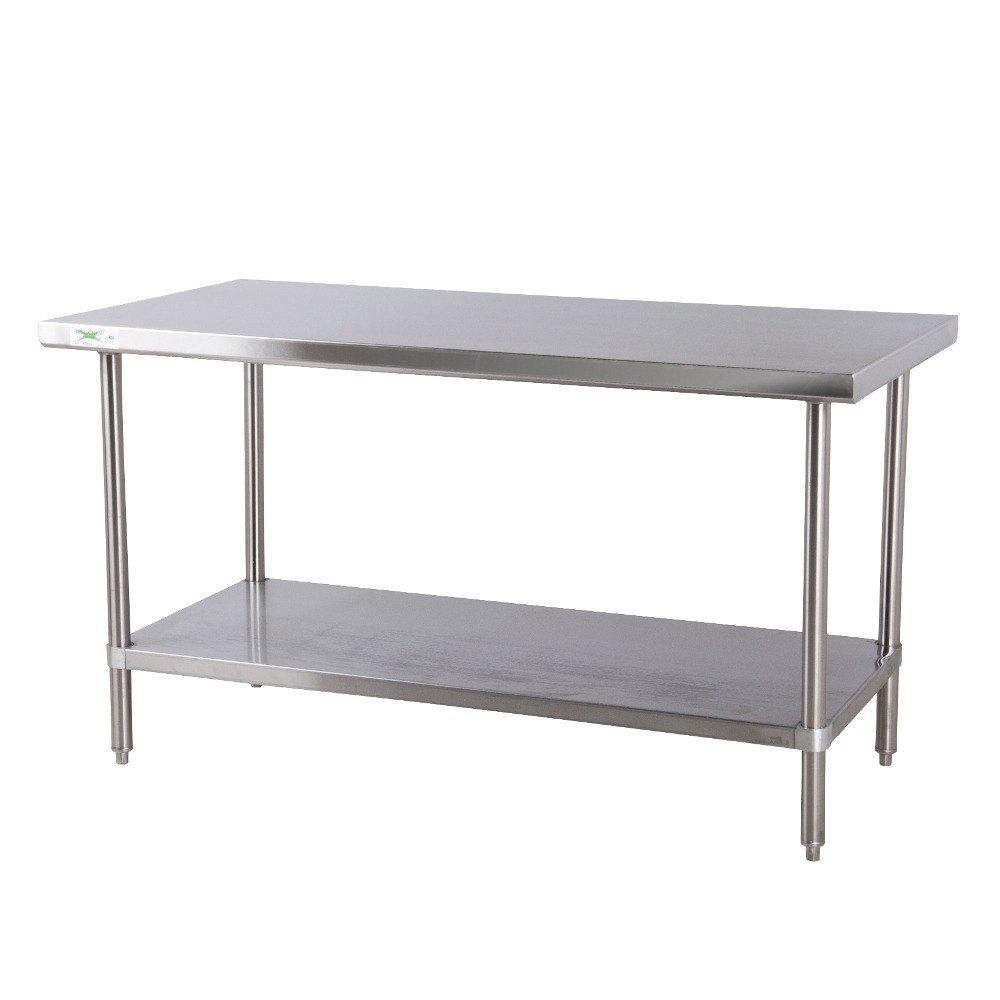 regency 18 gauge 30 x 72 430 all stainless steel commercial work table with undershelf. Black Bedroom Furniture Sets. Home Design Ideas