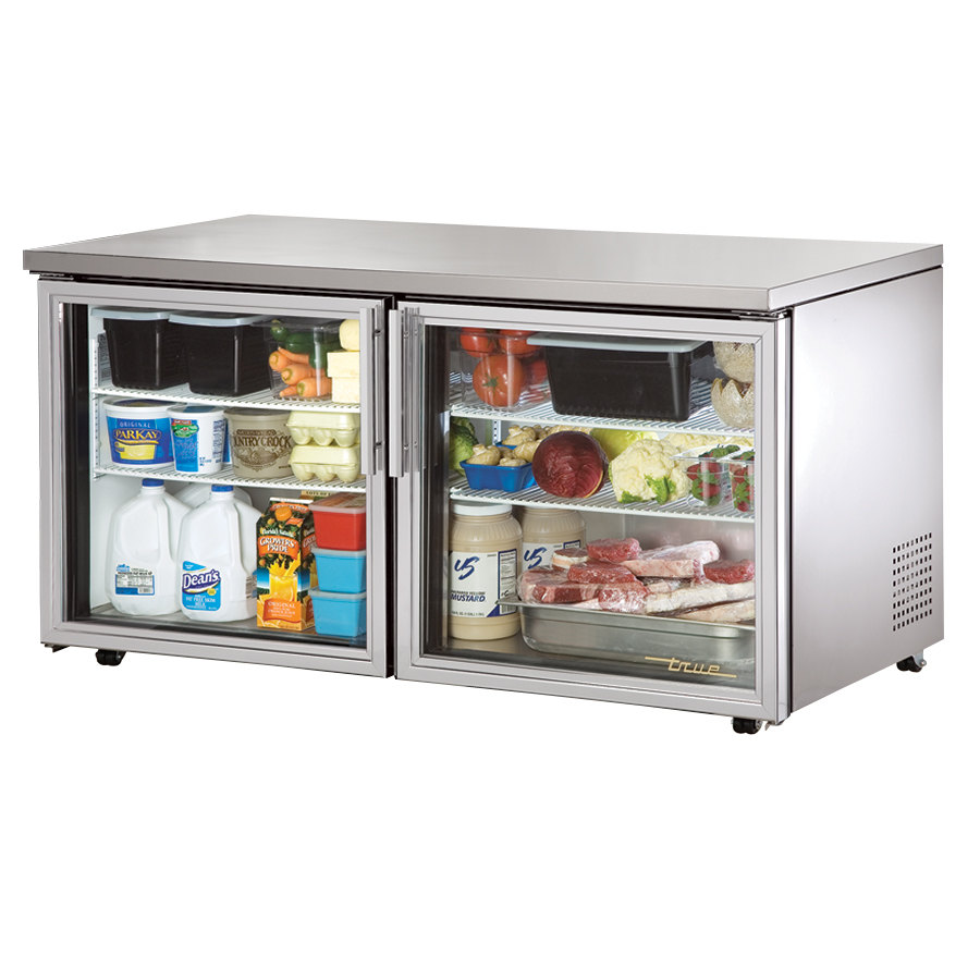 True TUC-60G-LP 60 inch Low Profile Glass Door Undercounter Refrigerator