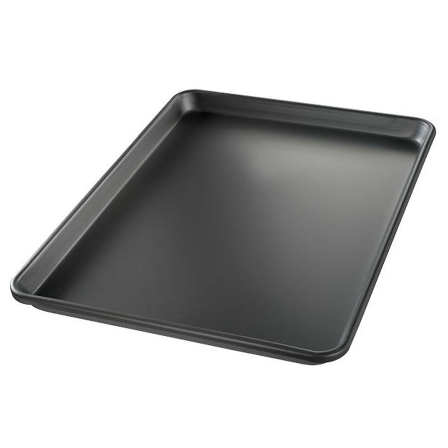 "Chicago Metallic 40952 BAKALON Half Size 14 Gauge Aluminum Sheet Pan - Sanitary Open Bead/Semi-Curled Rim, 13"" x 18"""