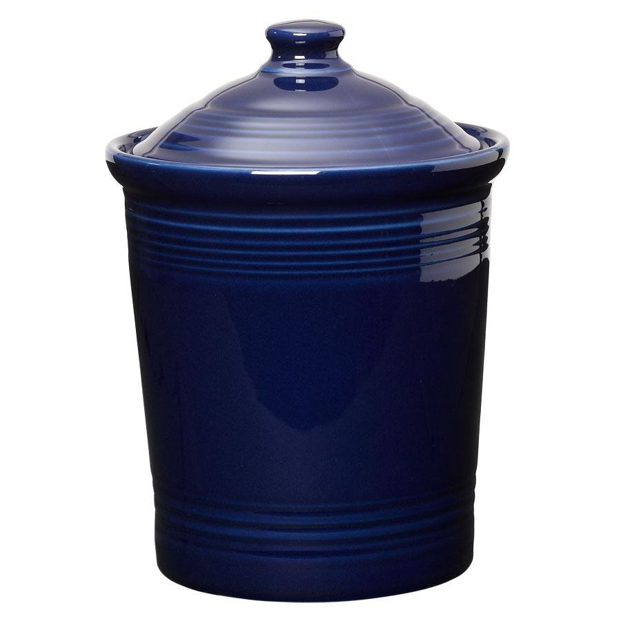 Homer Laughlin 572105 Fiesta Cobalt Blue Medium 2 Qt. Canister with Cover - 2 / Case