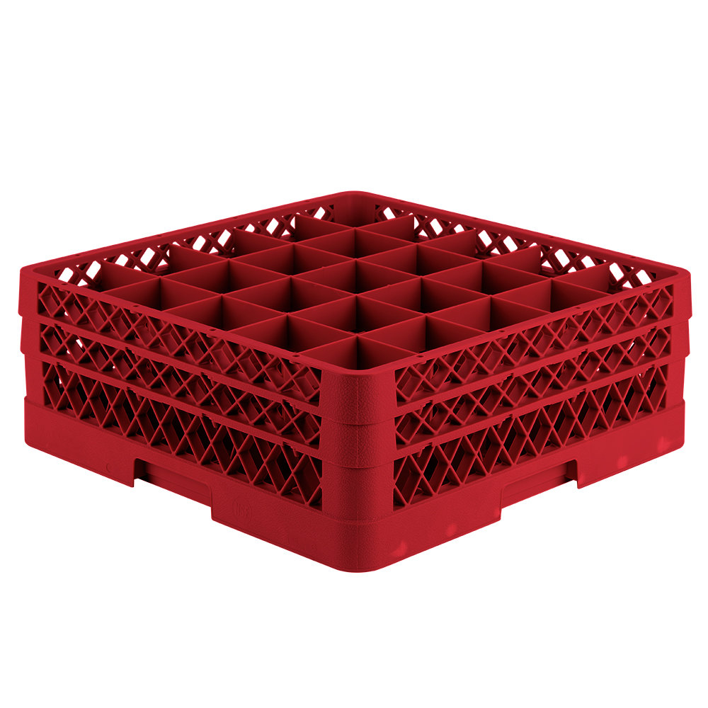Vollrath Tr6bb Traex 174 Full Size Red 25 Compartment 6 3 8