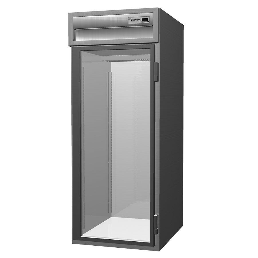 Delfield Stainless Steel SSHRI1-G 36.15 Cu. Ft. One Section Glass Door Roll In Heated Holding Cabinet - Specification Line