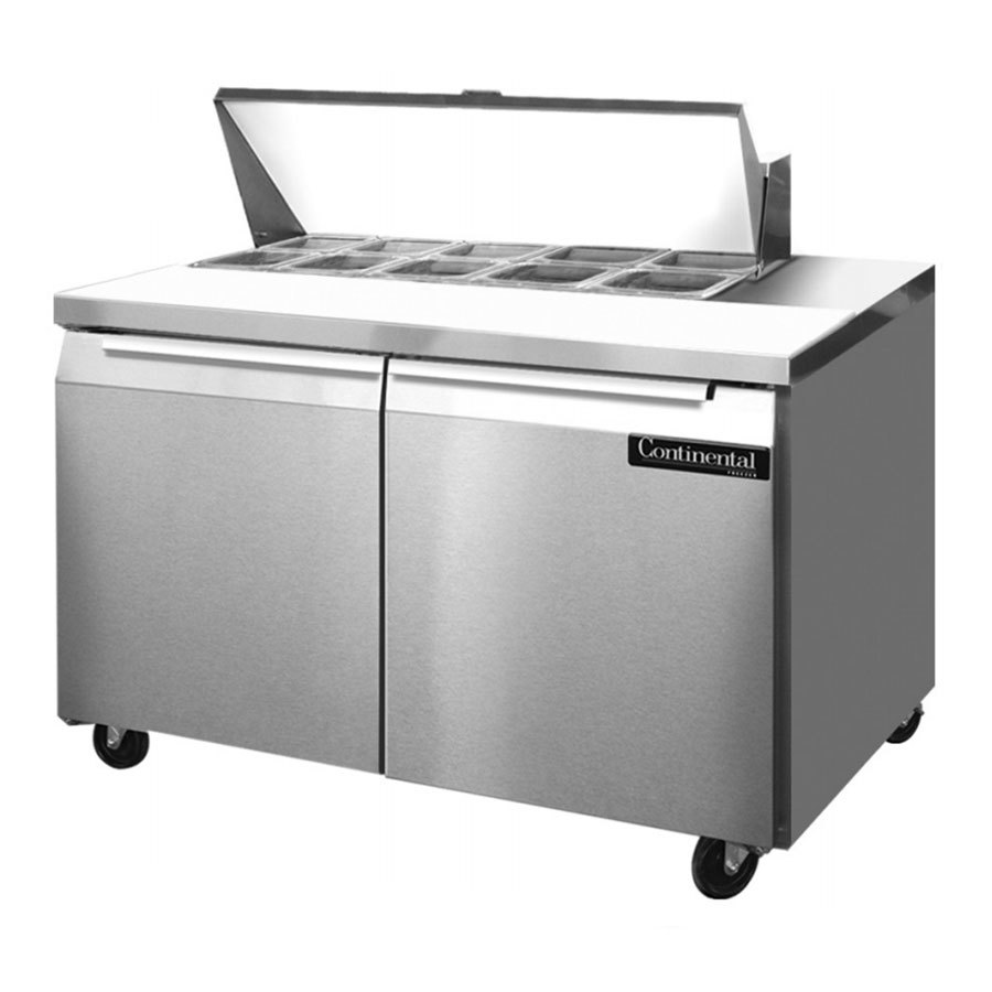 Commercial foodservice refrigeration continental refrigerator night continental refrigerator sw48 10 48 2 door refrigerated sandwich continental refrigerator sw48 10 48 refrigerated sandwich salad prep table 10 pan asfbconference2016 Choice Image
