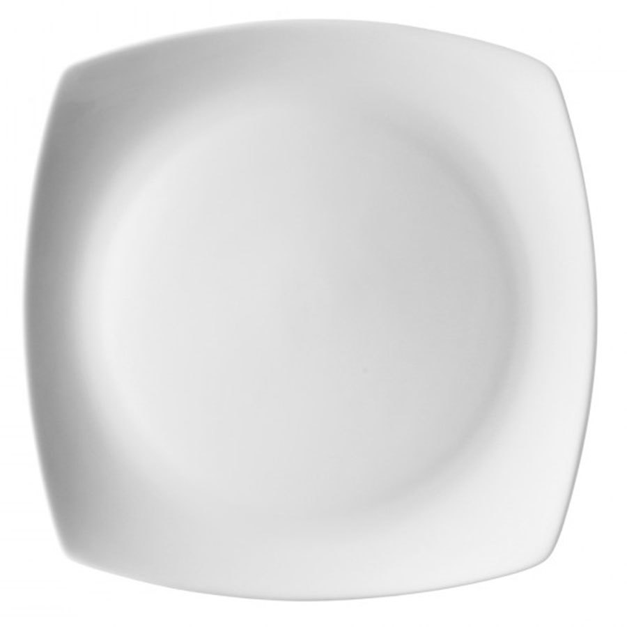 "10 Strawberry Street AUR-5 Aurora Square White 6"" Bread and Butter Plate - 48 / Case"