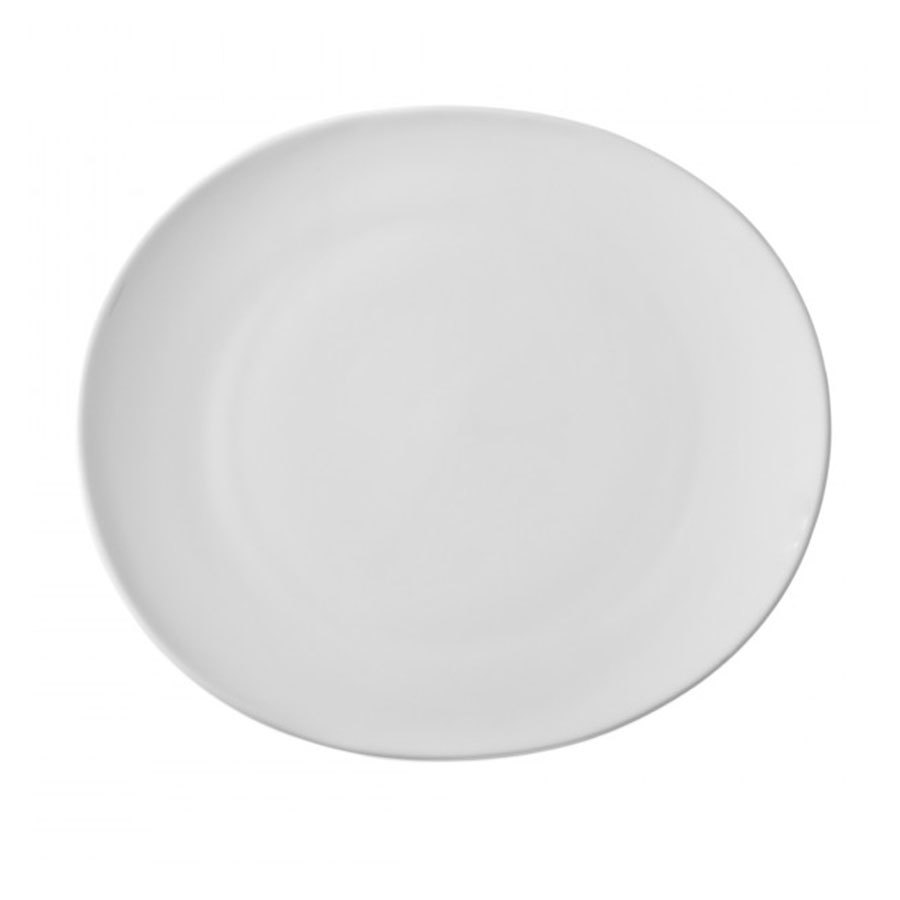 "10 Strawberry Street RVL0005 Royal Oval White 7"" Bread and Butter Plate - 24 / Case"