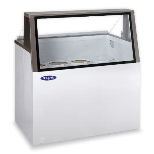 "Nor-Lake HF100-WWG/0L Nova 48"" Low Glass Ice Cream Dipping Cabinet"