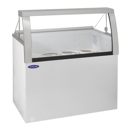 "Nor-Lake HF040-WWG/0L Nova 27"" Low Glass Ice Cream Dipping Cabinet"