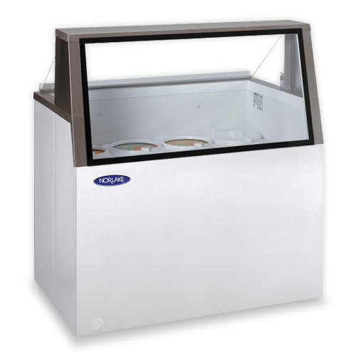 "Nor-Lake HF160-WWG/0L Nova 69"" Low Glass Ice Cream Dipping Cabinet"