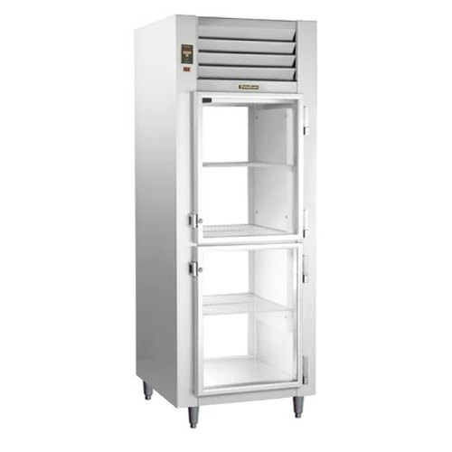 Traulsen AHT132WPUT-HHG 25.2 Cu. Ft. One Section Glass Half Door Pass-Through Refrigerator - Specification Line