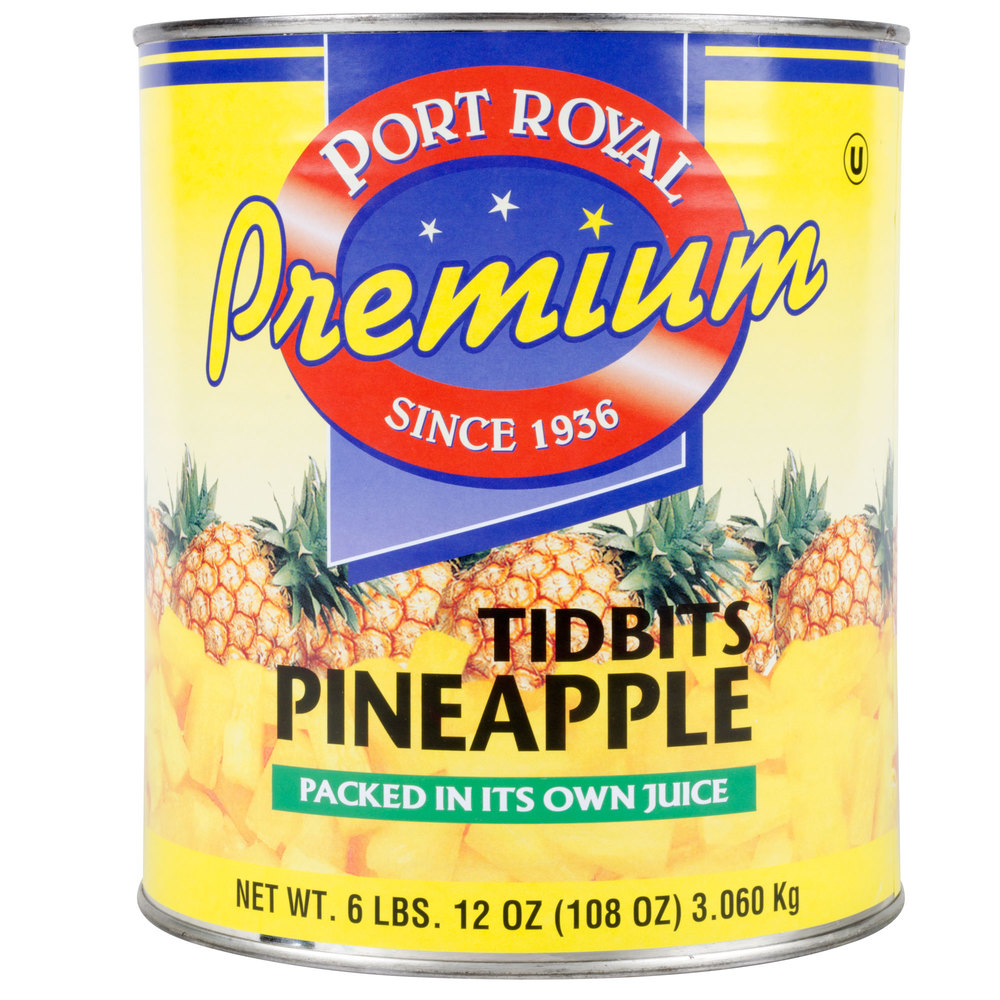 Pineapple Tidbits in Natural Juice #10 Can