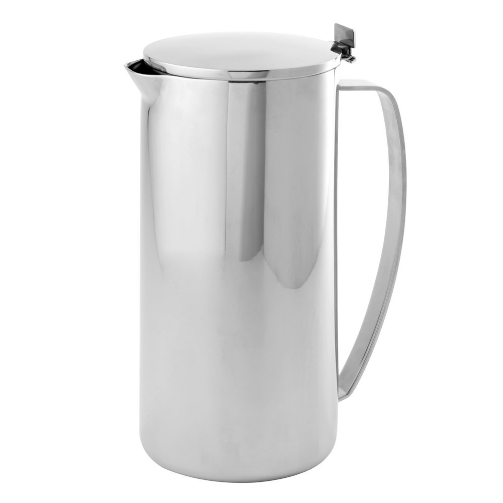 american metalcraft dwcp  qt double wall stainless steel  -  stainless steel pitcher with lid main picture