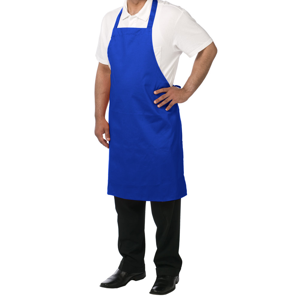 chef revival 601np rb customizable royal blue bib apron 34 l x 28 w. Black Bedroom Furniture Sets. Home Design Ideas