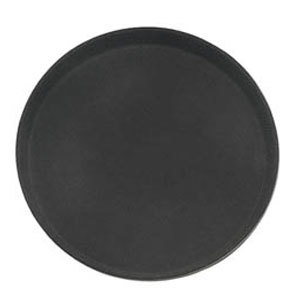 Round 16 inch Black Non-Skid Serving Tray