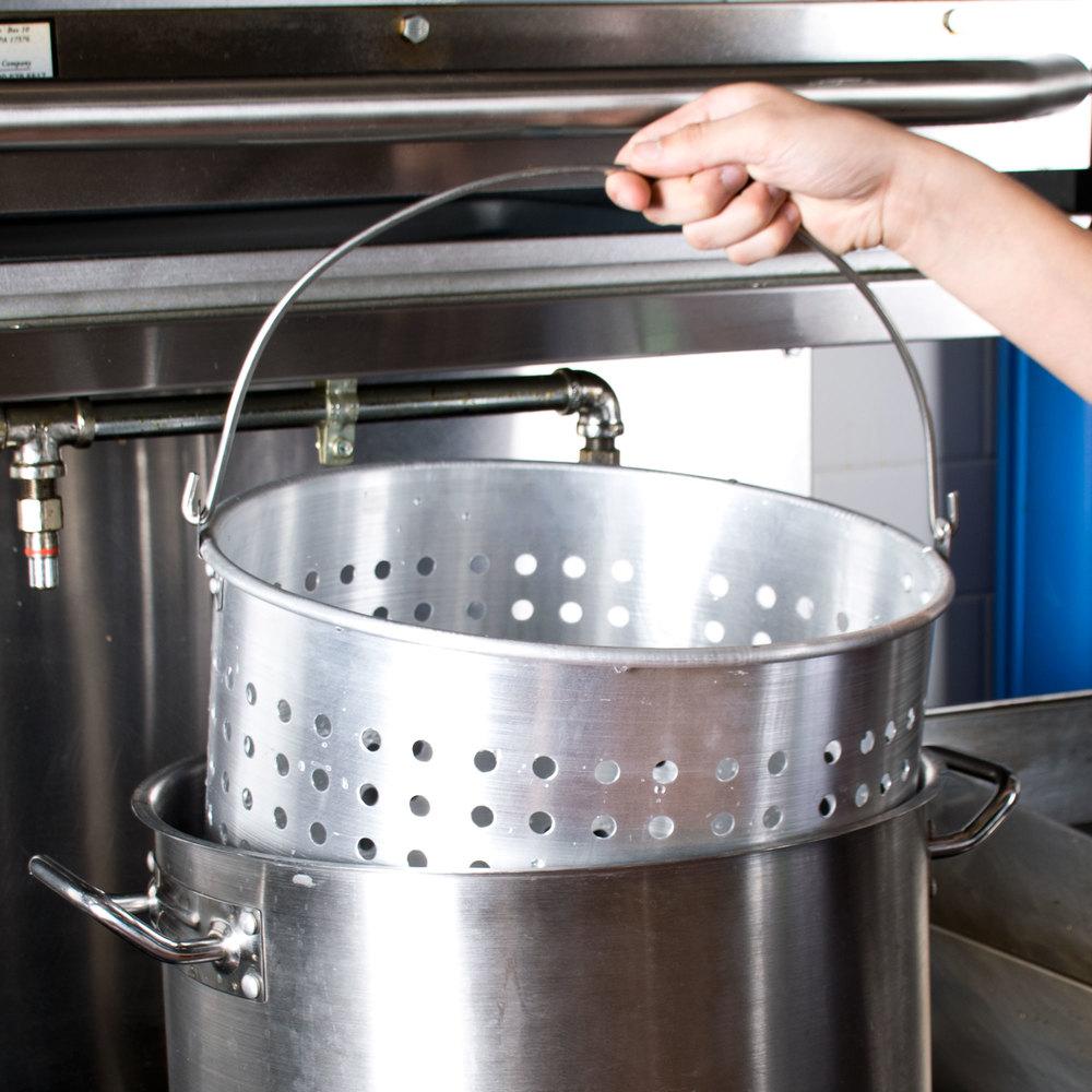 60 Qt. Aluminum Stock Pot Steamer Basket