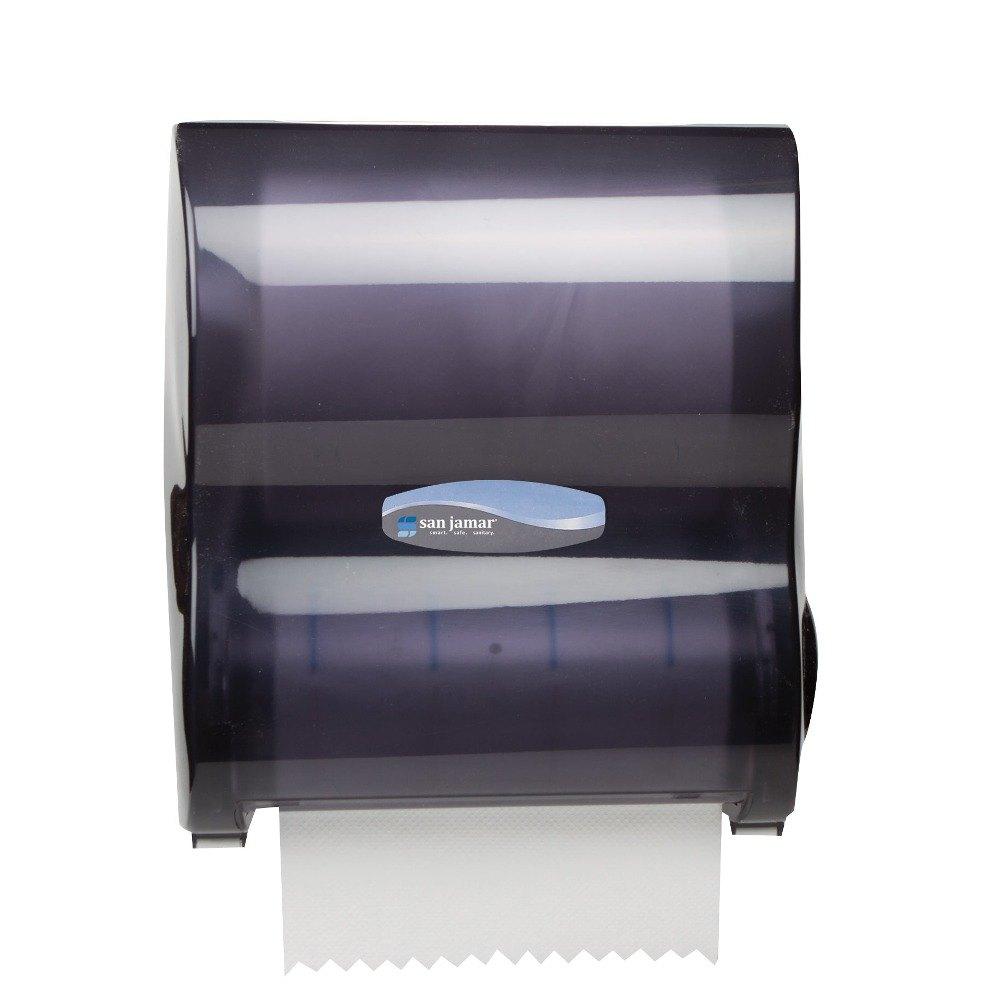 san jamar t7100tbk simplicity mechanical hands free paper