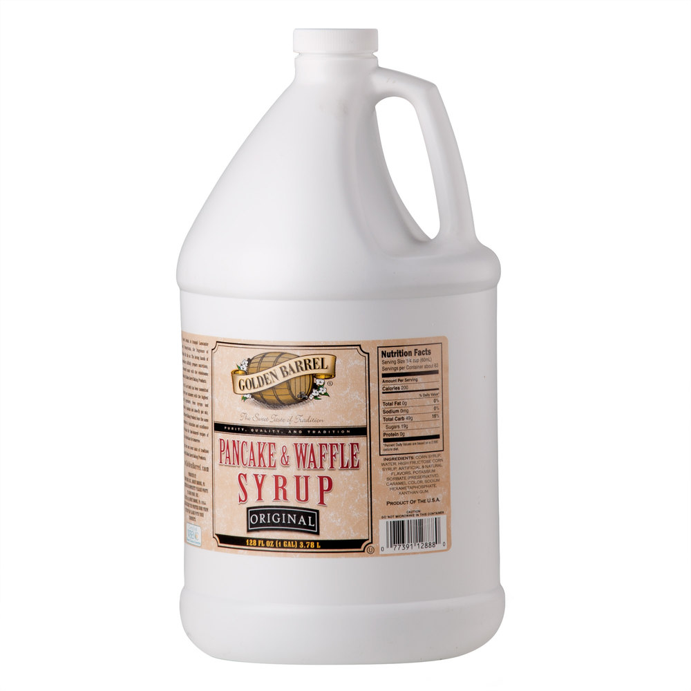 Golden Barrel Pancake and Waffle Syrup 1 Gallon Container