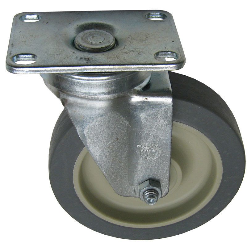 "Cres Cor 0569-306-K Equivalent 5"" Swivel Plate Caster - 300 lb. Capacity"