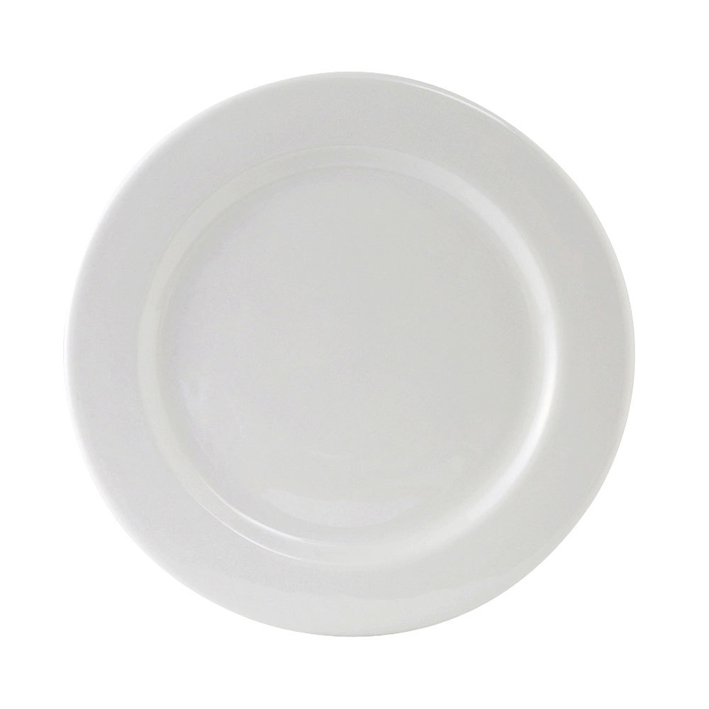 Tuxton ALA-074 Alaska 7 1/2 inch Wide Rim Rolled Edge Bright White China Plate 36/Case
