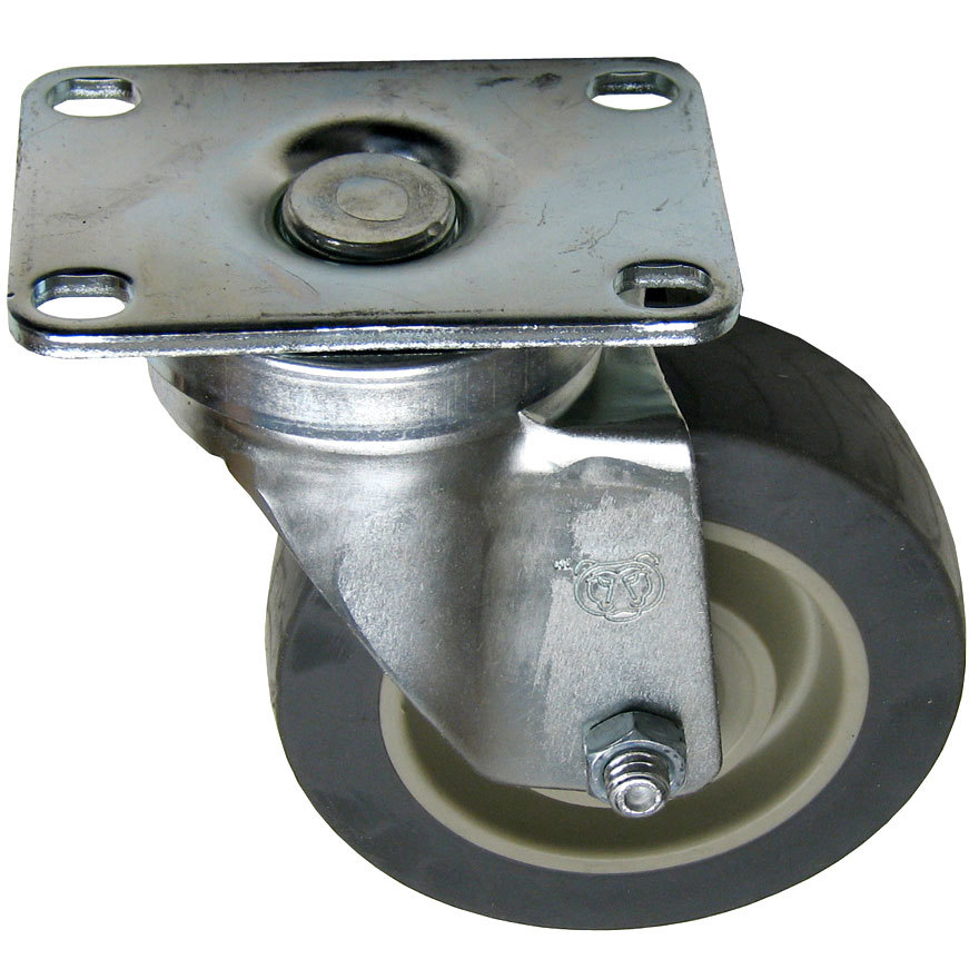 "All Points 26-2446 4"" Swivel Plate Caster - 275 lb. Capacity"