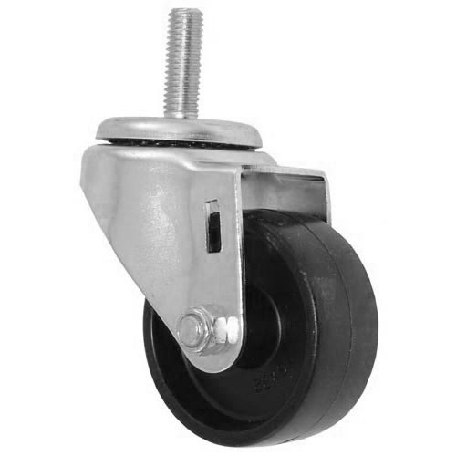 "All Points 26-3277 3"" Swivel Threaded Stem Caster - 1/2""-13 x 1 1/2"" Stem, 220 lb. Capacity"