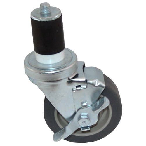 "All Points 26-3364 4"" Swivel Stem Caster with Brake for 1 5/8"" O.D. Tubing - 250 lb. Capacity"