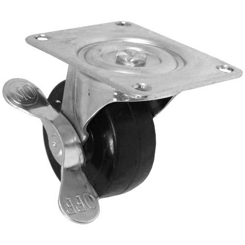 "All Points 26-3331 3"" Swivel Plate Caster with Brake - 220 lb. Capacity"