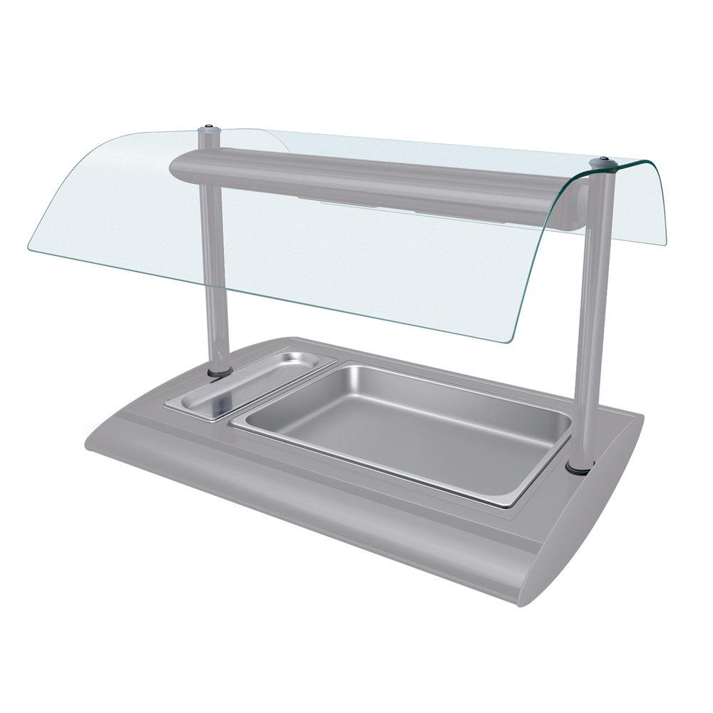 Hatco srbw 1 white granite serv rite portable pan buffet for Sideboard porta