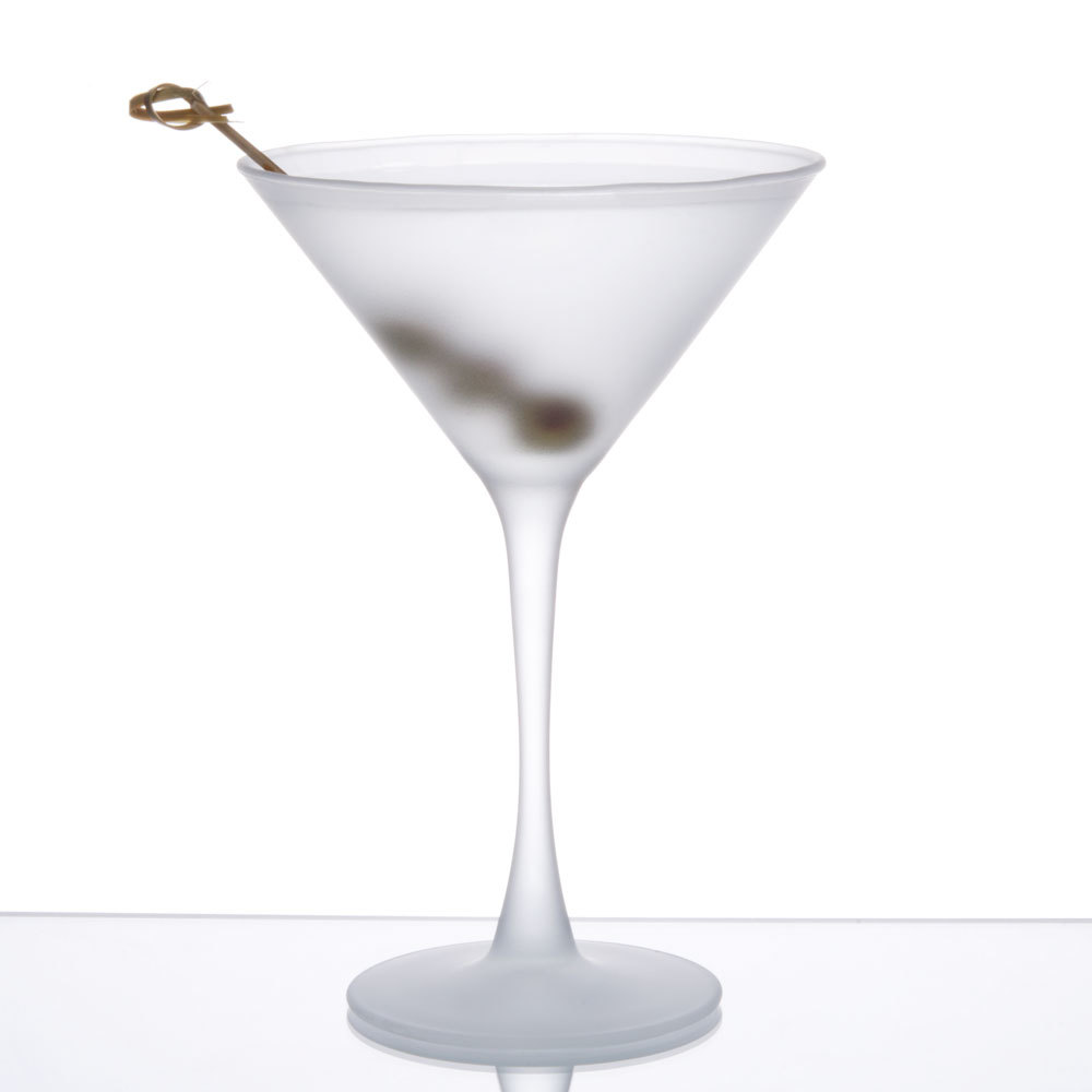 Cardinal Arcoroc EVF1013 Everfrost 7.5 oz. Frosted Cocktail / Martini Glass - 12/Case