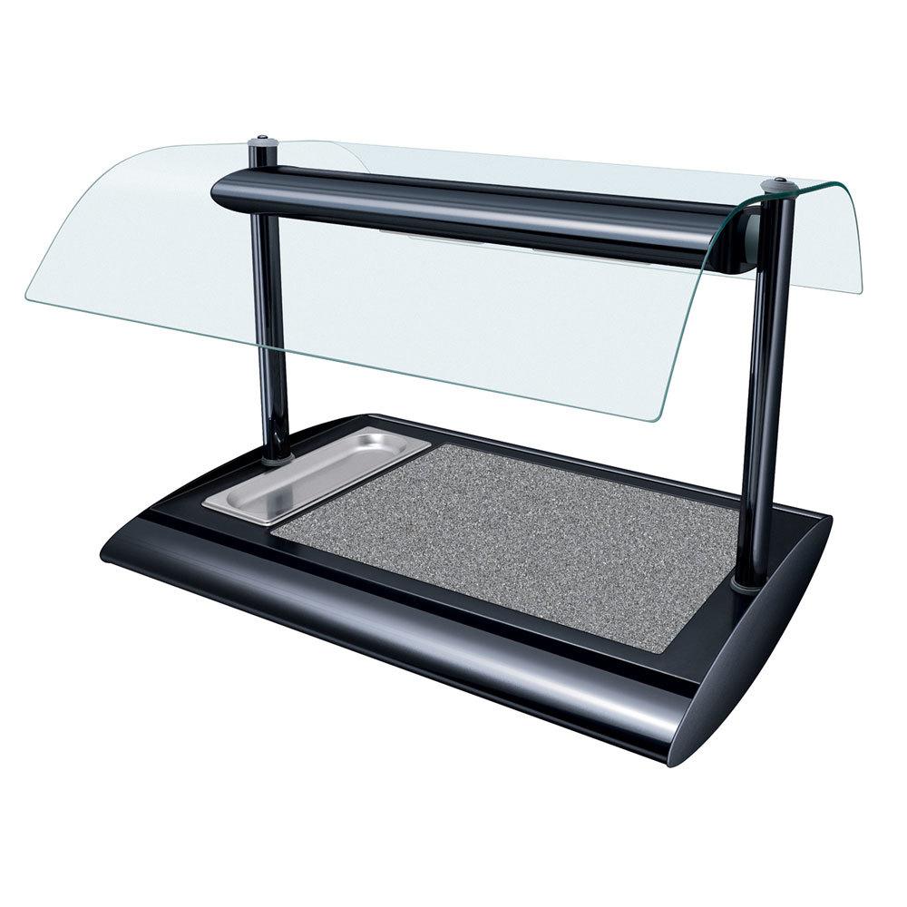 Countertop Vegetable Storage : Hatco SRSSBW-1 Bold Black Serv-Rite Portable Heated Gray Granite Stone ...