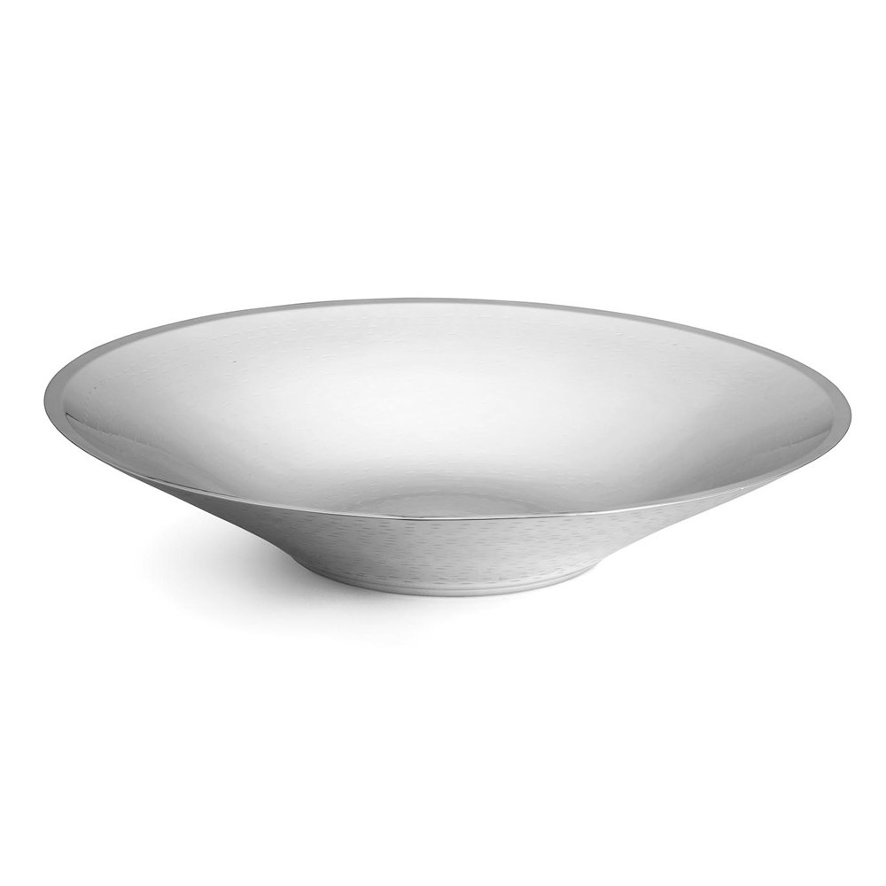 "Tablecraft RB184 Remington Collection 5 Qt. Round Double Wall Stainless Steel Bowl - 17 3/4"" x 3 1/2"""