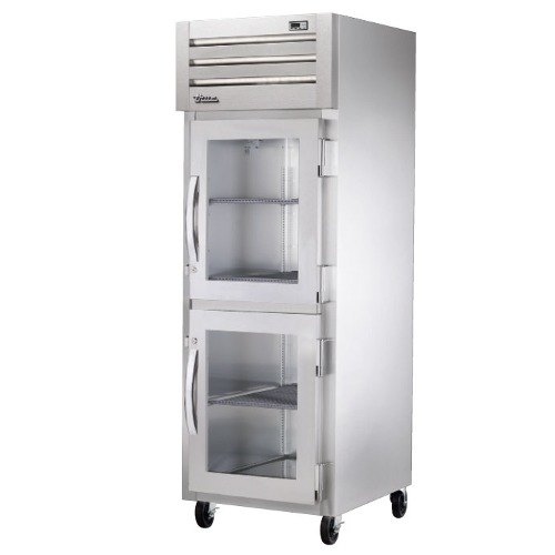 True STR1R-2HG Specification Series One Section Reach In Refrigerator with Glass Half Doors - 31 Cu. Ft.