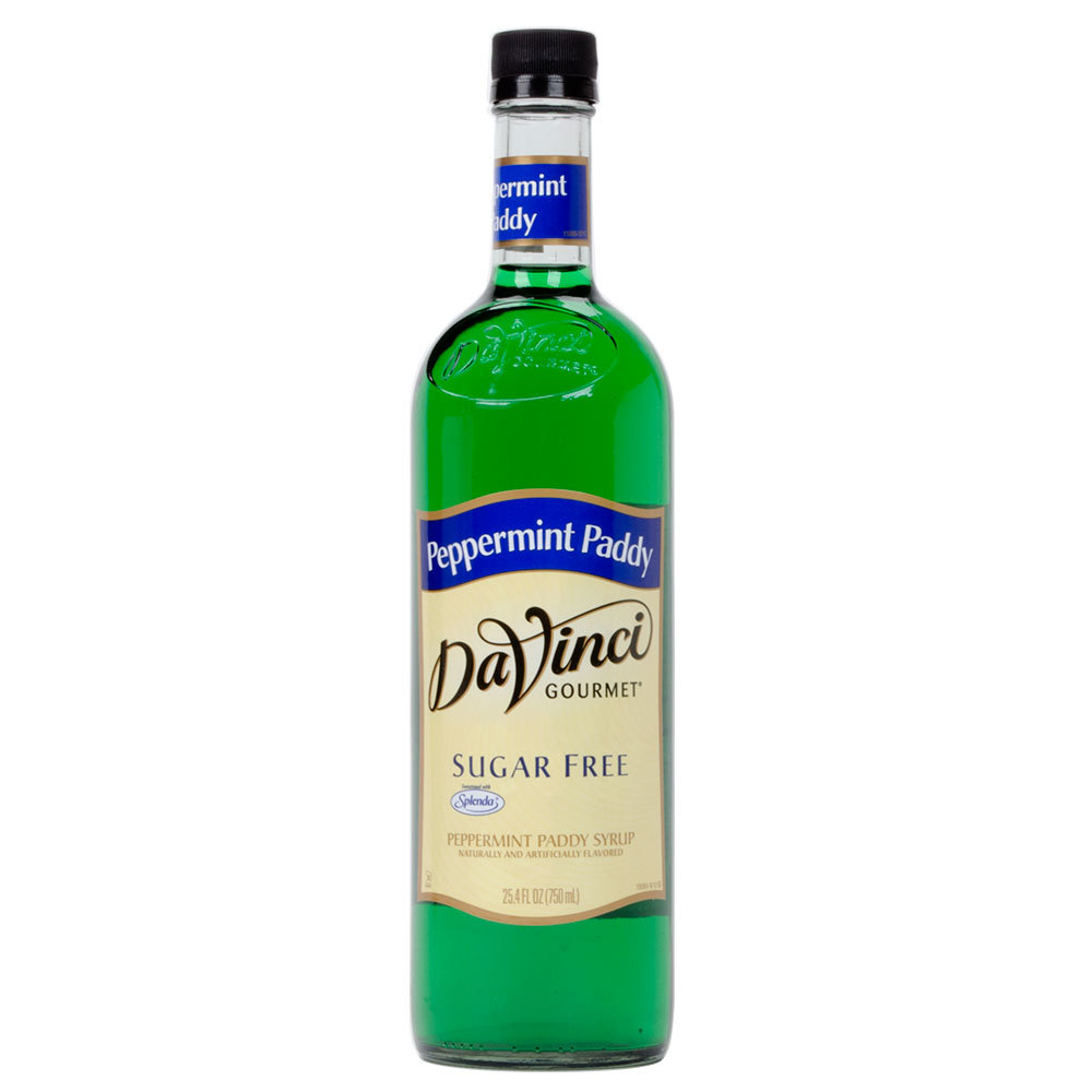 DaVinci Gourmet 750 mL Peppermint Paddy Sugar Free Coffee Flavoring Syrup