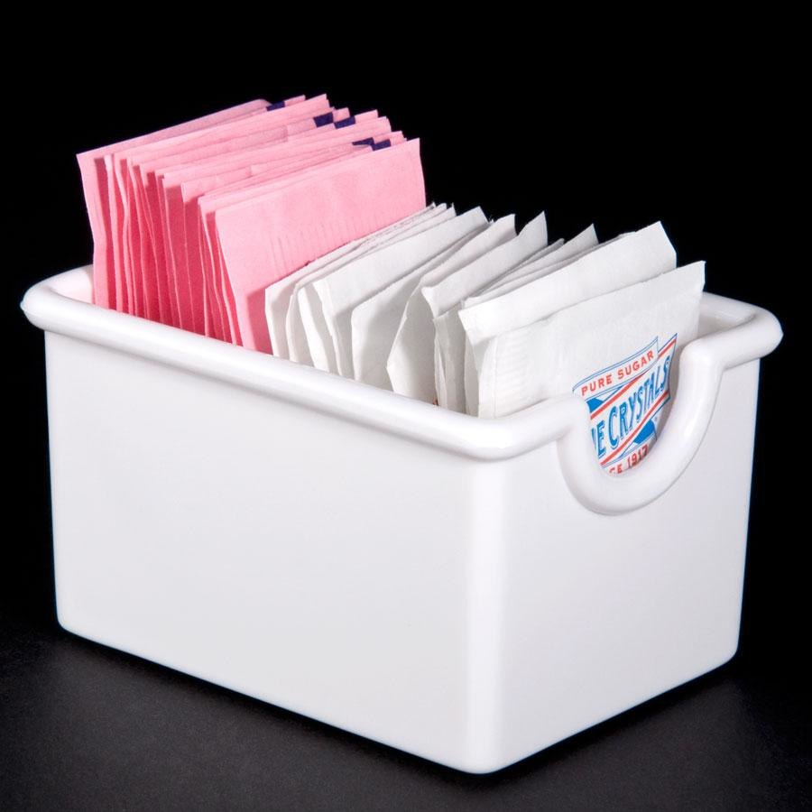 White Plastic Sugar Caddy