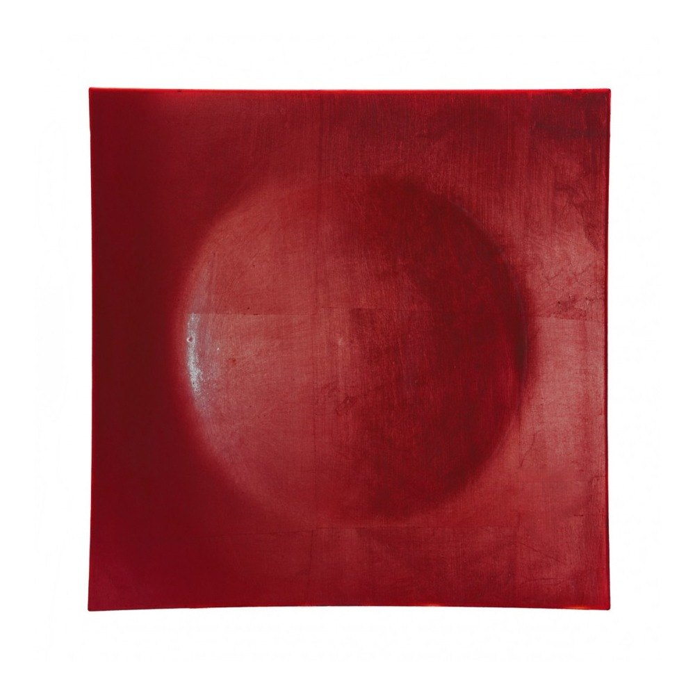 "10 Strawberry Street LARD-12SQ 12"" Lacquer Square Red Charger Plate"