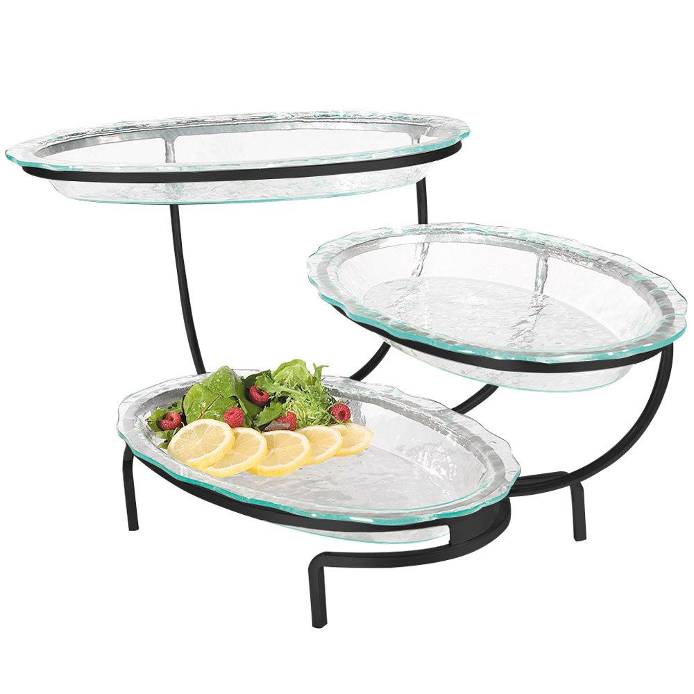 Tiered Platter Stand 3 Tier Rectangular Serving Platter