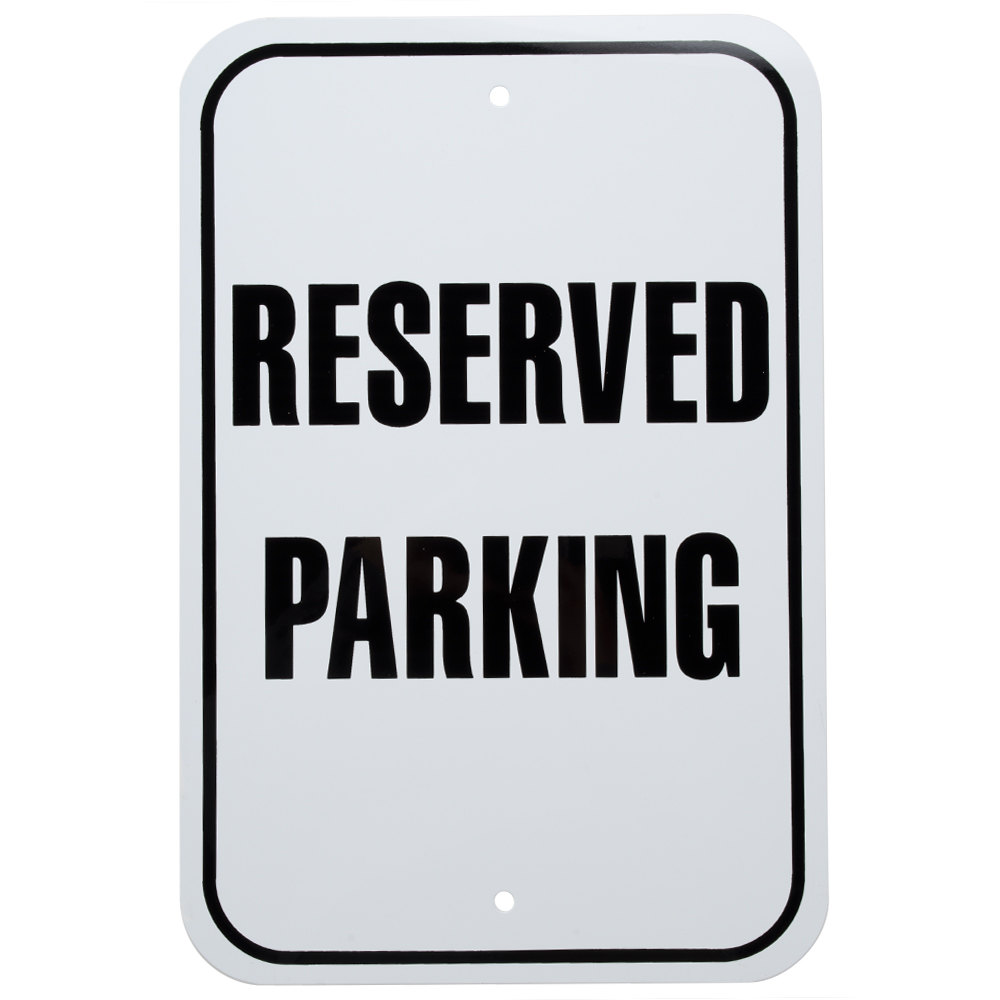 Reserved parking signs pictures to pin on pinterest for Reserved parking signs template