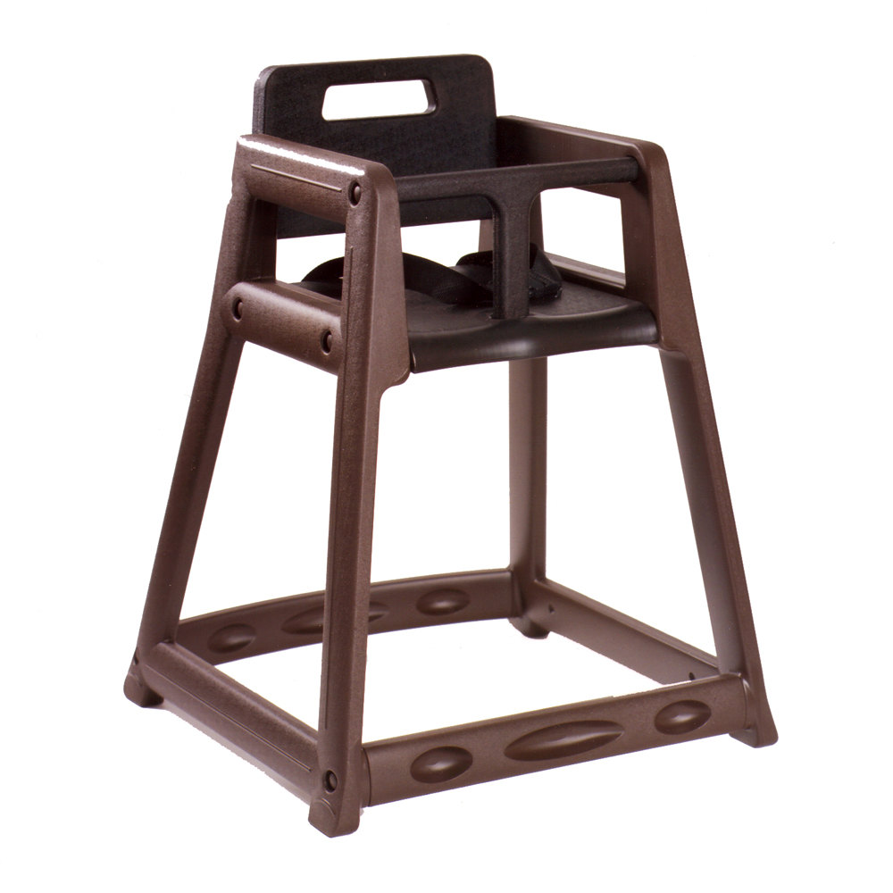 Baby chair for restaurant - Koala Kare Kb850 09 Brown Assembled Stackable Plastic High Chair