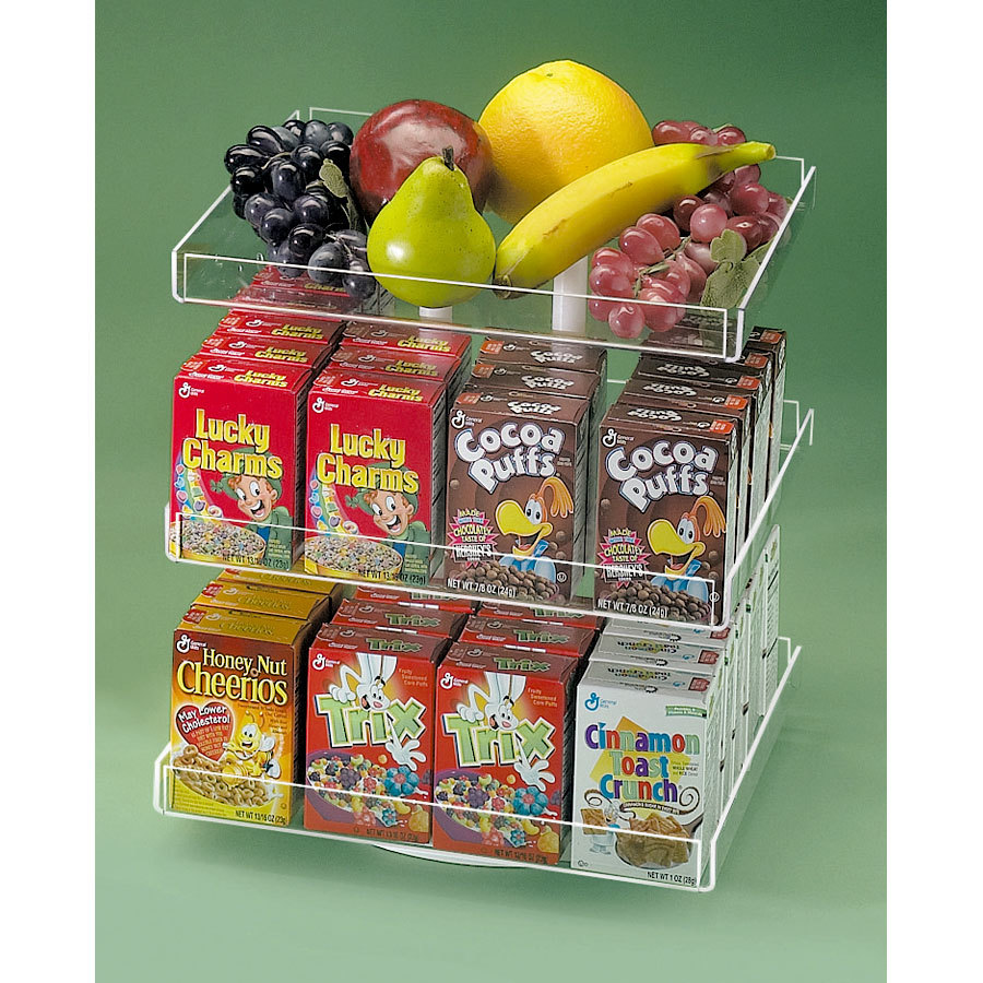 Cal mil 372 counter top cereal organizer revolving holds for Cereal organizer
