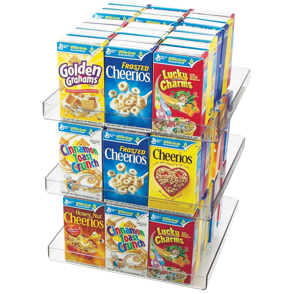 Cal-Mil 372 Revolving Countertop Cereal Organizer - Holds 60 Mini Cereal Boxes