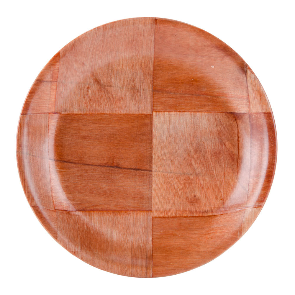"6"" Woven Wood Plate - 12/Pack"