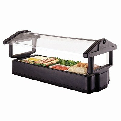 Black Cambro 4FBRTT110 Table Top 4' Food / Salad Bar with Sneeze Guard