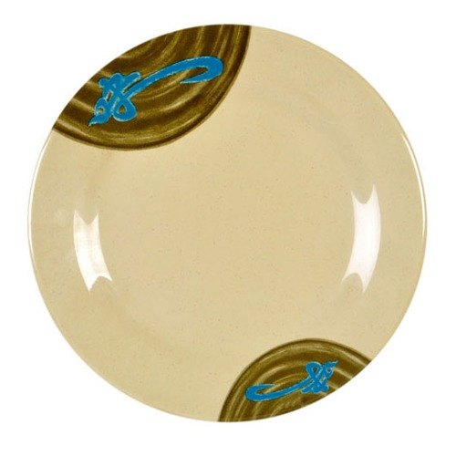 "Thunder Group 1010J Wei 10 3/8"" Round Melamine Plate - 12/Pack"