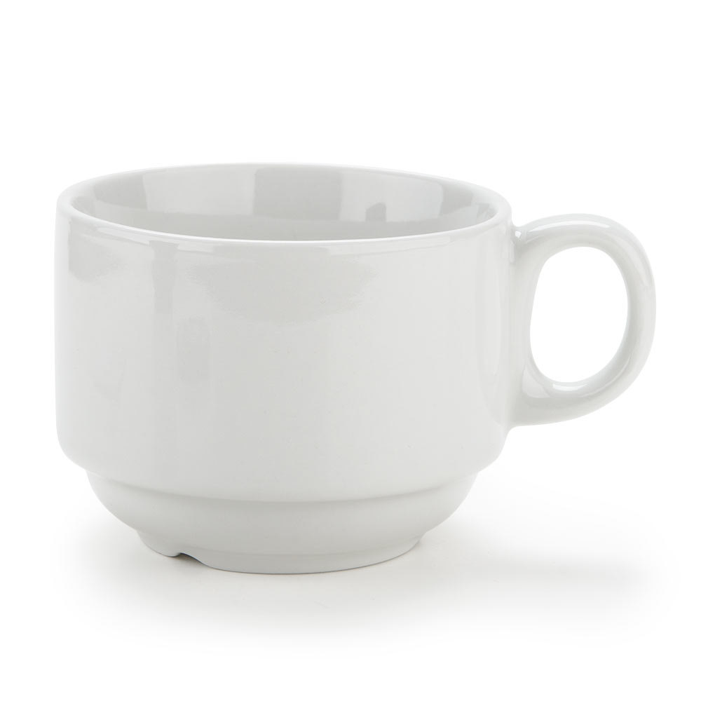 Tuxton ALF-0703 Alaska 7 oz. Bright White China Stackable Cup 36/Case