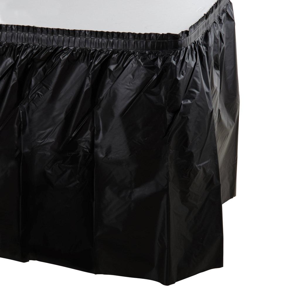 Black Plastic Table Skirt 14 X 29 Quot