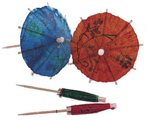 4 inch Drink Umbrella / Parasol Pick 144/BX